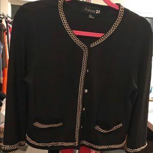 Jacket blazer gold chain detail  F21